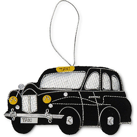 London Taxi tree decoration 10cm - CHRISTMAS - Baubles & tree decorations - Christmas decorations - Christmas | selfridges.com