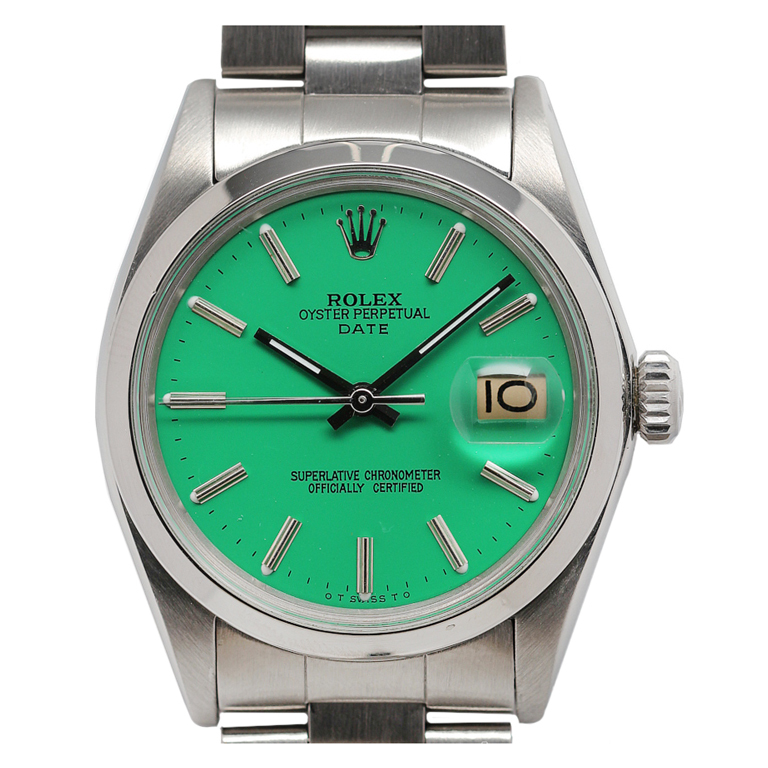 ROLEX Stainless Steel Oyster Perpetual Date Wristwatch at 1stdibs