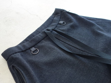 Micro thermal knit over shorts / Ash black