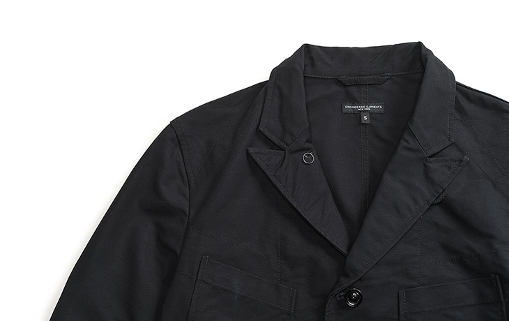 ENGINEERED GARMENTS/Bedford Jacket-Cotton Double Cloth-Black