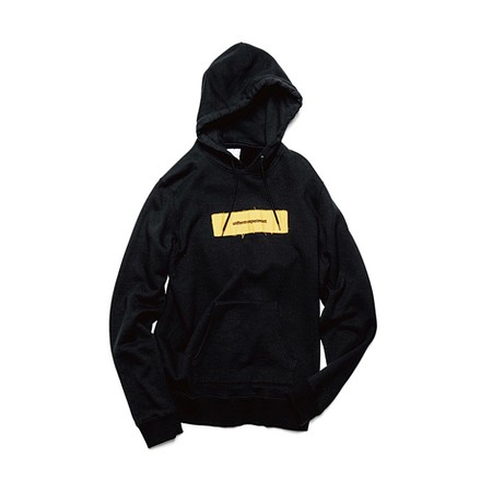 APPLIQUE BOX LOGO PULL OVER HOODY