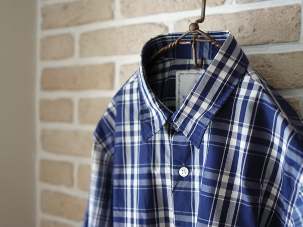 - BLACK&BLUE - kirikae check shirt