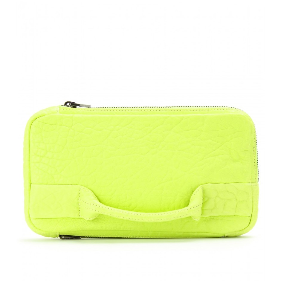 mytheresa.com - Alexander Wang - DUMBO LEATHER CLUTCH - Luxury Fashion for Women / Designer clothing, shoes, bags