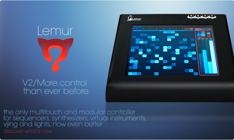 JazzMutant - Lemur, multitouch modular controller for sequencers, synthesizers, virtual instruments, vj and light