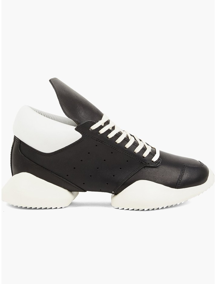 Rick Owens x adidas Men's Runner in White and Black | oki-ni