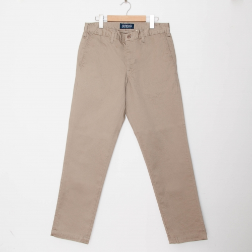 Custom Fit Chino Pants - Khaki - cup and cone WEB STORE