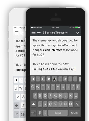 Write for iOS - A Beautiful Writing & Note Taking App for iPhone, iPad and Mac with Dropbox and iCloud Sync