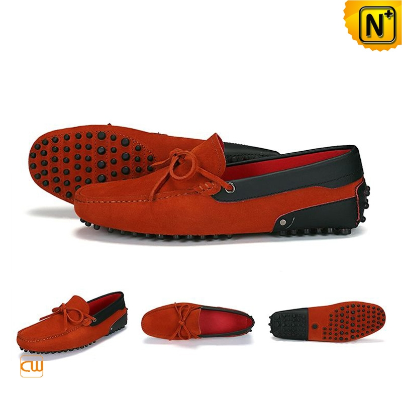 Suede Leather Driving Shoes for Men CW740041