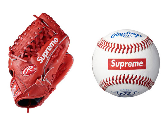 supreme x rawlings baseball glove and baseball sumally サマリー