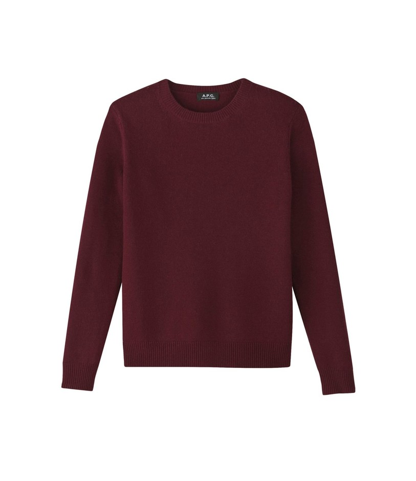 CREW NECK PULLOVER IN WOOL AND CASHMERE