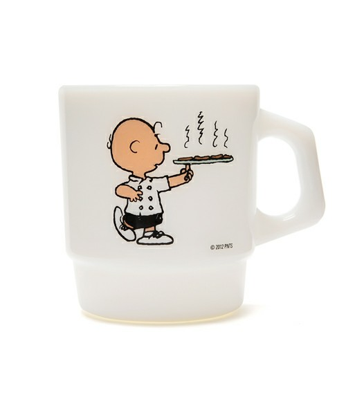 """HAND IN HAND / Fire King STACKING MUG """"CAFE/CHARLIE BROWN"""" (グラス・マグカップ) - ZOZOVILLA"""