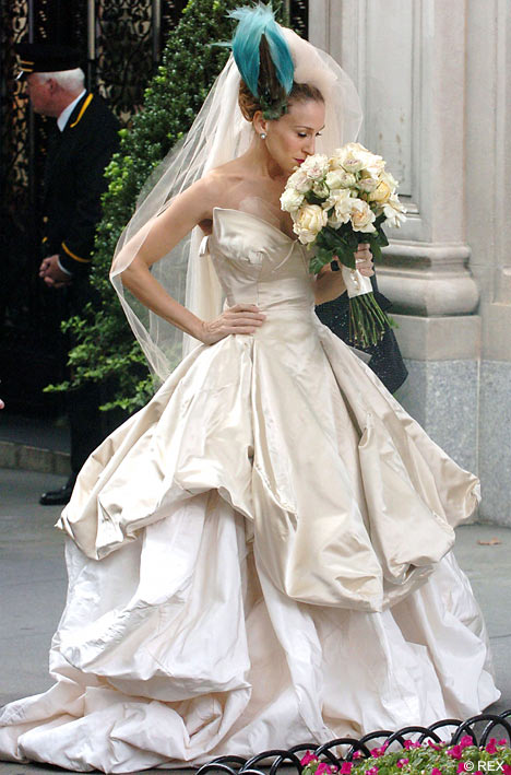 Carrie Bradshaw Wedding Dress; 'Sex And The City Movie' Wedding