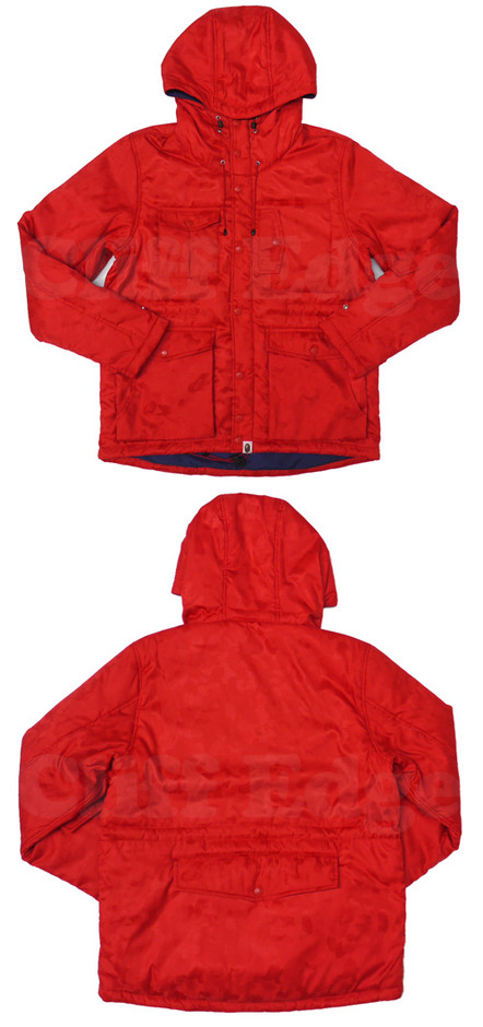 【楽天市場】A BATHING APE(エイプ)JACQUARD ABC CAMOマウンテンパーカー [ジャケット]【新品】RED CAMO212-000597-063[1860-141-030]-【smtb-TD】【yokohama】:Cliff Edge