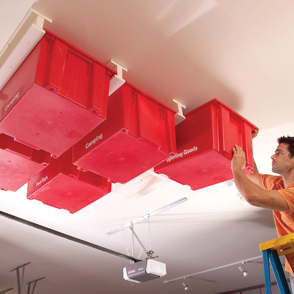 Create a Sliding Storage System On the Garage Ceiling - Step by Step | The Family Handyman