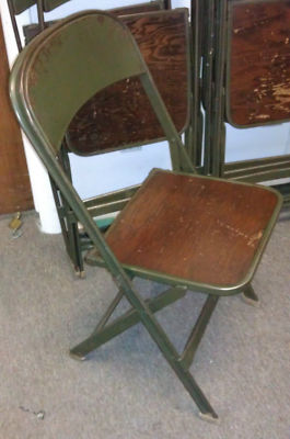 eBay 【セカイモン】- 不明 > Lot of 6 VTG Clarin Manufacturing Co Chicago Wood/Metal Folding Chairs GOOD COND: 海外オークション