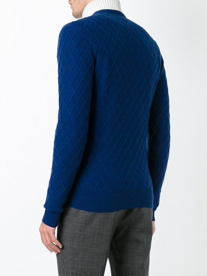 Ballantyne Jacquard V Neck Cardigan - Boutique Mantovani - Farfetch.com