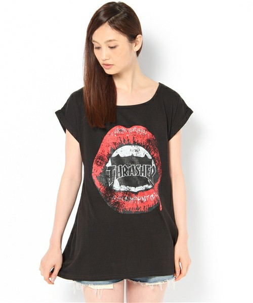 WEGO LADY'S / THRASHER LIP TEE(Tシャツ・カットソー) - ZOZOTOWN