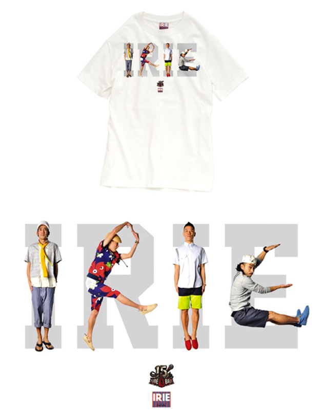 FIRE BALL × IRIE by Irie Life : 15th ANNIVERSARY COLLABORATION TEE - EXTRA CLASSIC