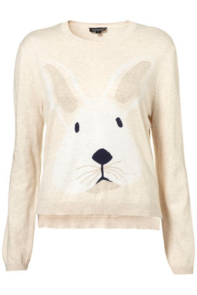 Knitted Bunny Motif Jumper - Knitwear - Clothing - Topshop