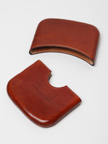 Maison Martin Margiela 11 Two Piece Leather Card Holder in mahogany at oki-ni