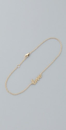 Amazon.com: Jennifer Zeuner Jewelry Love Anklet: Jewelry