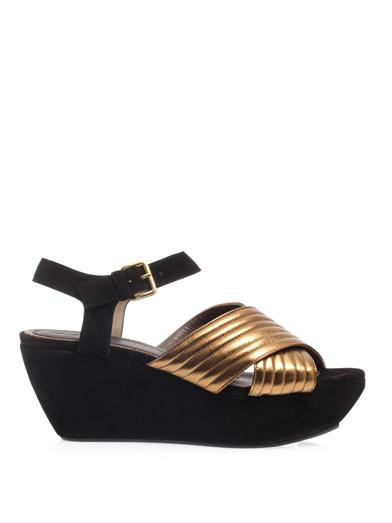 Suede wedge sandals | Marni | MATCHESFASHION.COM