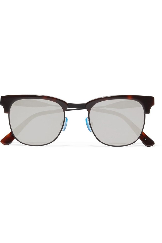 Westward Leaning | Vanguard 17 square-frame acetate and metal mirrored sunglasses | NET-A-PORTER.COM