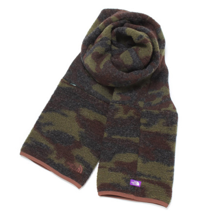 THE NORTH FACE PURPLE LABEL Camouflage Wool Fleece Stole CF   スニーカー通販のチャプター[CHAPTER WORLD]