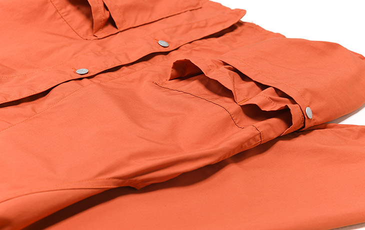 SASSAFRAS/Whole Hole Jacket-Weeds Poplin-Orange