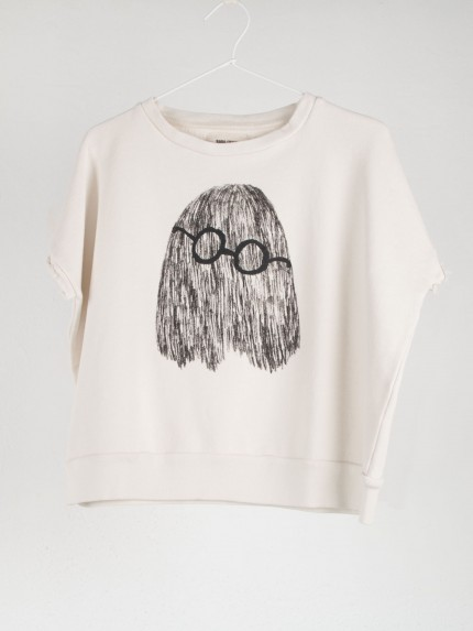 Clever Ghost Sleeveless Sweatshirt