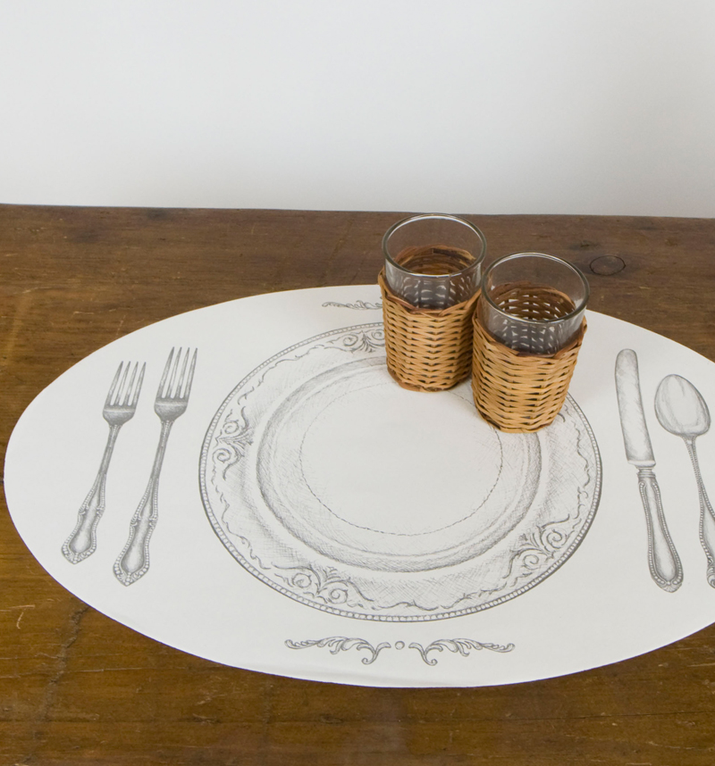 Bed&Breakfast General Store™ / Placemat Pads Oval Perfect Setting