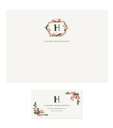 Rifle Paper Co. - Monogrammed Floral Notes & Calling Cards