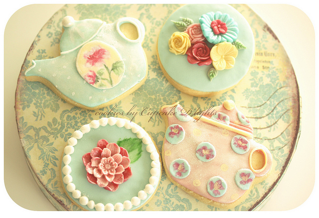tea party cookies | Flickr - Photo Sharing!