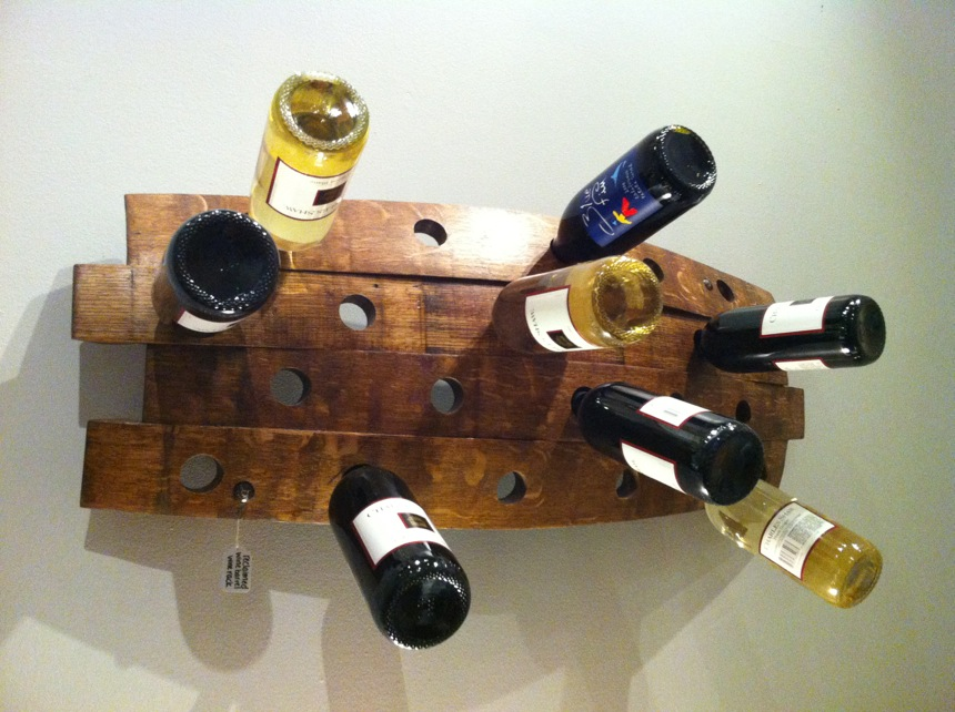 Serendipity Wine Rack | Wine racks made from reclaimed wine barrels by Rossitto Woodworks