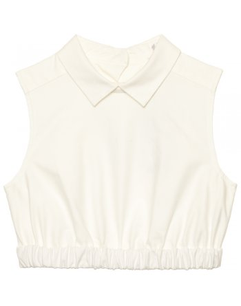Oxford white cropped cotton top - All Clothing from Cricket Fashion Boutique UK