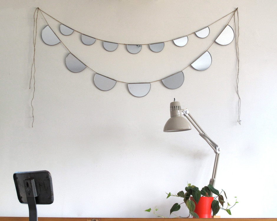 Mirror Bunting Small Half Circle Banner Garland by fluxglass