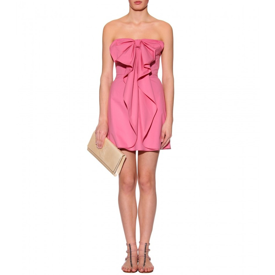 mytheresa.com - Valentino - STRAPLESS BOW DRESS - Luxury Fashion for Women / Designer clothing, shoes, bags