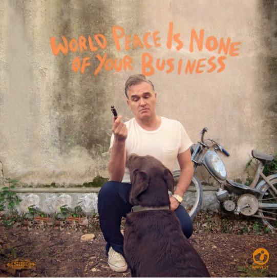 """Morrissey reveals artwork for new single """"World Peace Is None of Your Business"""", out next week 