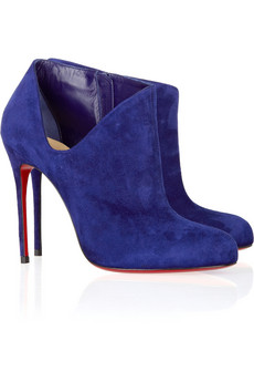Christian Louboutin | Lisse 100 suede ankle boots | NET-A-PORTER.COM