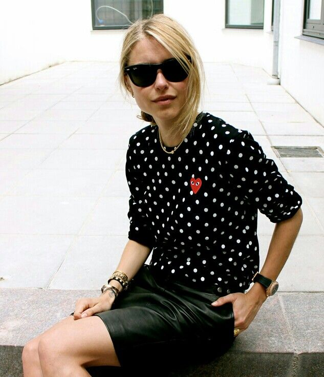 comme des garcons polka dots | Street Fashion | Pinterest