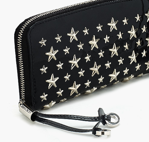 Jimmy Choo | Fillipa | Patent Leather Wallet with Stars | JIMMYCHOO.COM