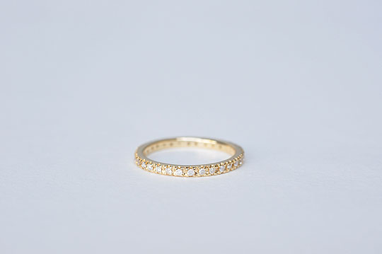 Diamond Full Eternity Ring - Pinky Size - SOURCE objects