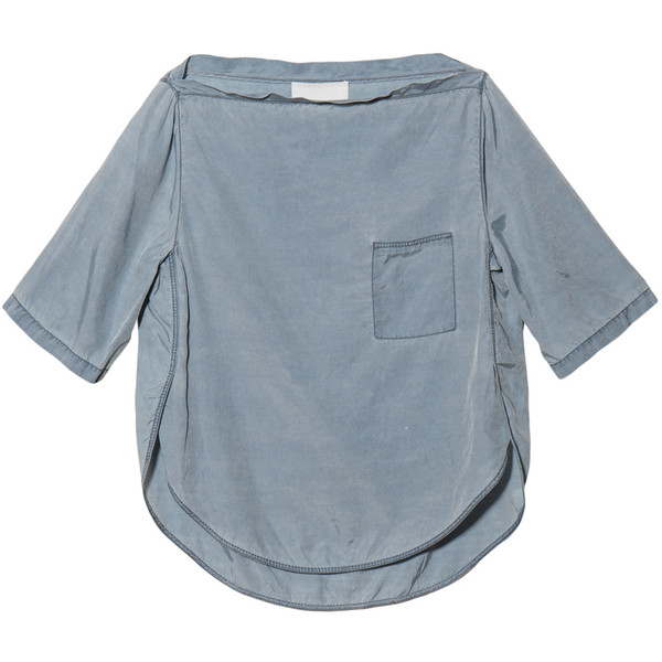 3.1 Phillip Lim Curved Seam Tee in Pale Blue - Polyvore