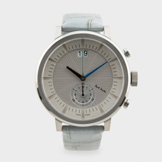 Cody Stonerock | Silver Chiltern Watch by Paul Smith on Luvocracy