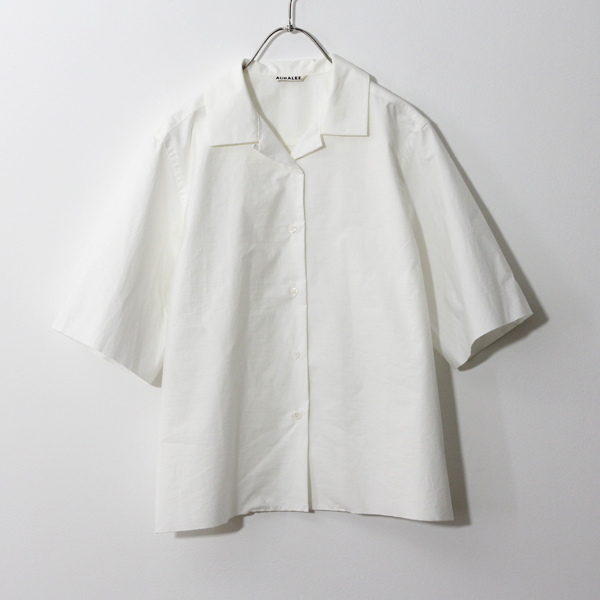 AURALEE/ OPEN COLLARED HALF SLEEVED SHIRTS ハーフスリーブシャツ- dieci|online shop