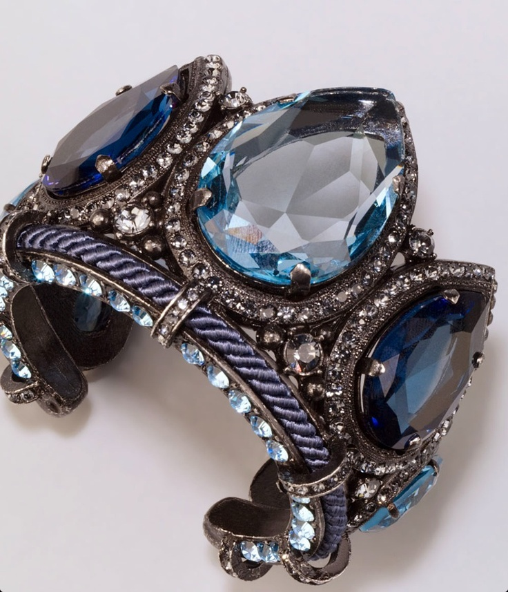 Lanvin Crystal Teardrop Cuff | Purchase This! | Pinterest