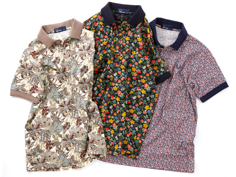 FRED PERRY×EDIFICE Liberty Print Polo Shirt|EDIFICE|エディフィス 公式サイト