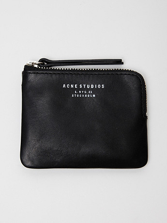 Acne Leather Coin Pouch at oki-ni