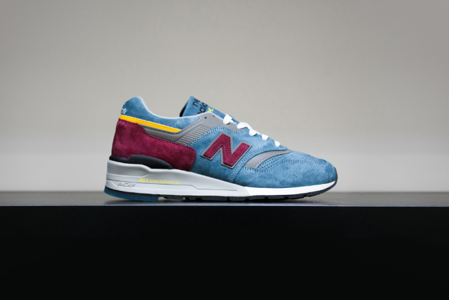 NEW BALANCE 997 MADE IN THE USA CONNOISSEUR AMERICAN PAINTERS COLLECTION - TEAL/BURGUNDY | Undefeated