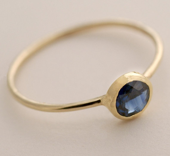 5mm Blue Sapphire Ring by Tulajewelry on Etsy